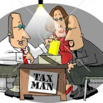 5198-Husband-And-Wife-Getting-Taxes-Done-By-Their-Professional-Accountant-Clipart