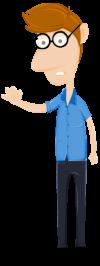 Accountant cartoon character
